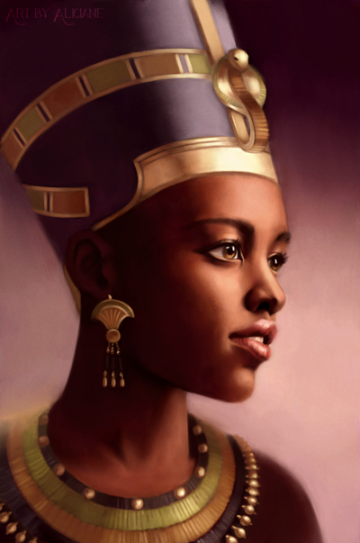 Aliciane (Elésiane Huve) | Freelance Illustrator, Digital Painter, Concept Artist - Nefertiti, Queen of Egypt