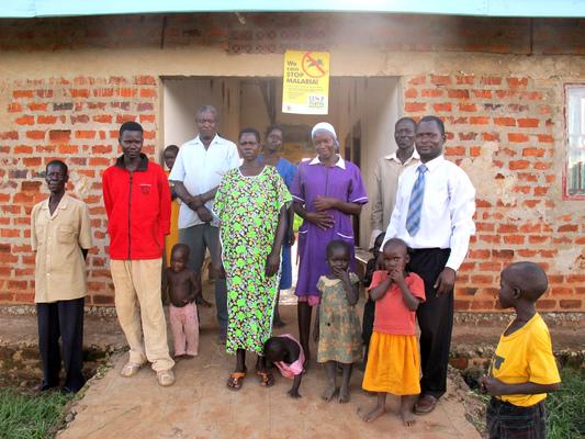 Education & Health Trust Uganda - Outside the clinic