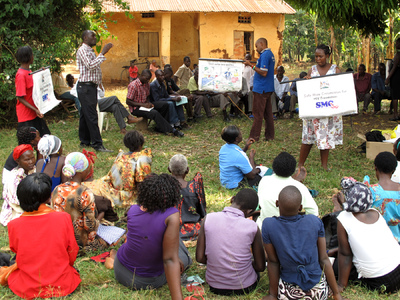 Education & Health Trust Uganda - Training under the mango tree
