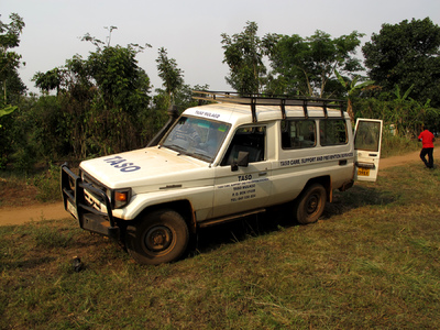 Education & Health Trust Uganda - A rugged TASO truck, out in the field