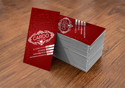 ODT - Cardo bread&wine - business card design