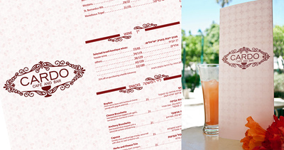 ODT - Cardo bread&wine - menu design and production