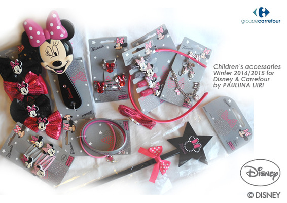 PAULIINA LIIRI - DESIGNER - Girls accessories winter 2014/2015 for Disney & Carrefour