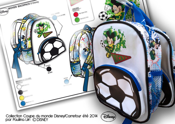 PAULIINA LIIRI - DESIGNER - Boyss backpack summer 2014 for Disney & Carrefour