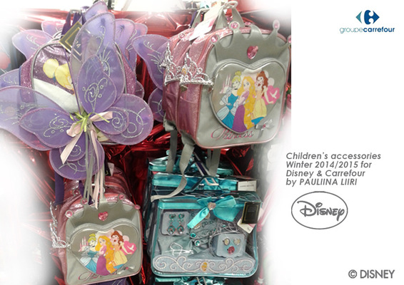 PAULIINA LIIRI - DESIGNER - Childrens accessories winter 2014/2015 for Disney & Carrefour