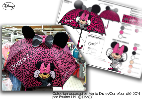PAULIINA LIIRI - DESIGNER - Girls umbrella summer 2014 for Disney & Carrefour