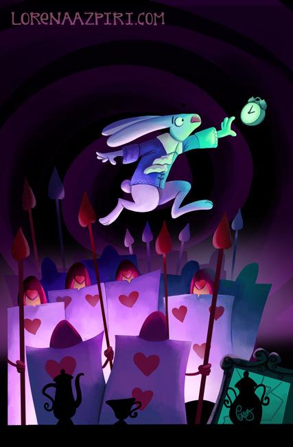 Illustrations Lorena Azpiri - Rabbit in Wonderland cover ---------------------------- Portada para el juego Rabbit in Wonderland
