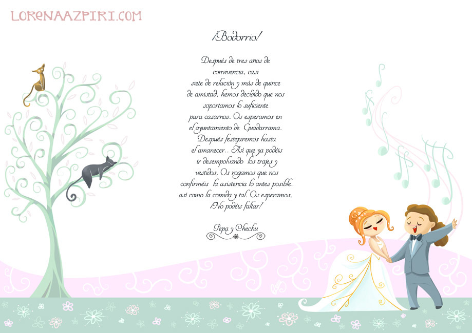 Illustrations Lorena Azpiri - Wedding invitation