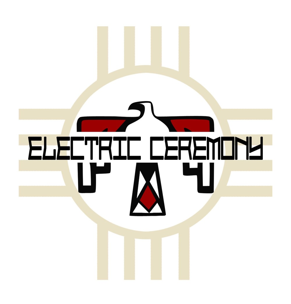 Illustrations Lorena Azpiri - Logo and concert posters for the cover band Electric Ceremony
