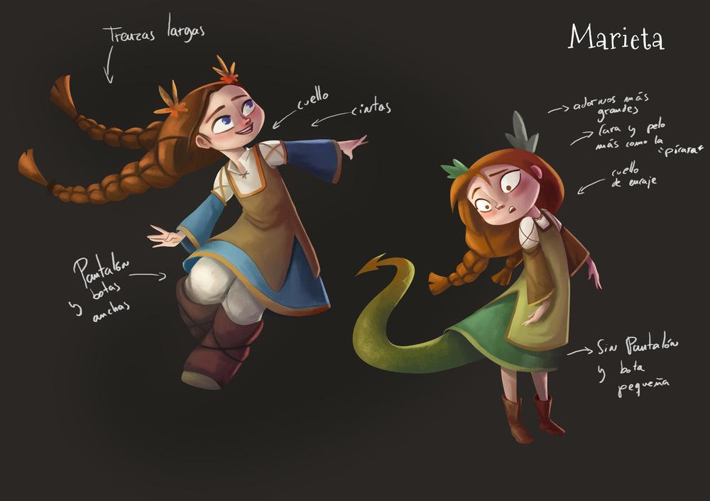 Illustrations Lorena Azpiri - Character designs for Dragorieta ---------------------------- Diseño de personaje para el juego Dragorieta