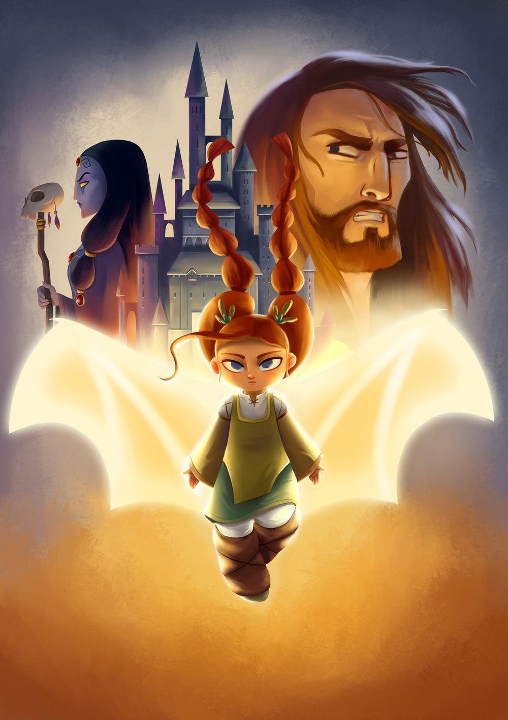 Illustrations Lorena Azpiri - DragorietaIllustration for thge videogame Dragorieta (in production) ---------------------------- Ilustración para el juego (en producción)