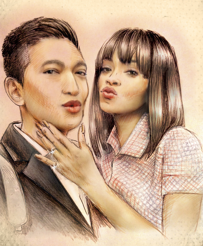 Illustrator Belova Darya - Brayanboy and Rihanna