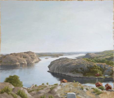 Fredrik Landergren - artist in Stockholm - Quiet summermorning Hamburgerö