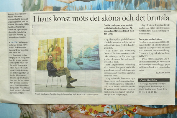 Fredrik Landergren - artist in Stockholm - Vårt Kungsholmen 2003
