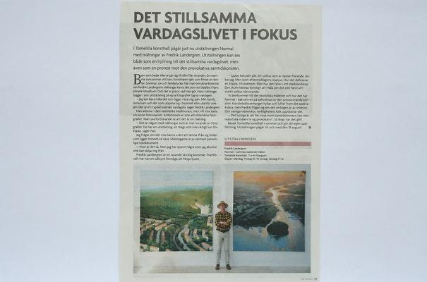 Fredrik Landergren - artist in Stockholm - Vad Händer /Ystad & Österlen 2012