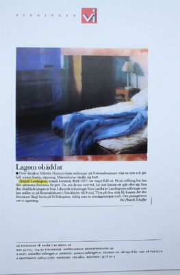 Fredrik Landergren - artist in Stockholm - Tidningen VI 2000