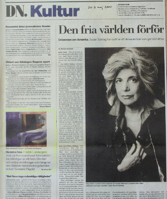 Fredrik Landergren - artist in Stockholm - DN 2000