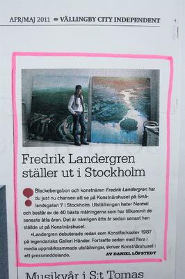 Fredrik Landergren - artist in Stockholm - Vällingby City Independent 2013
