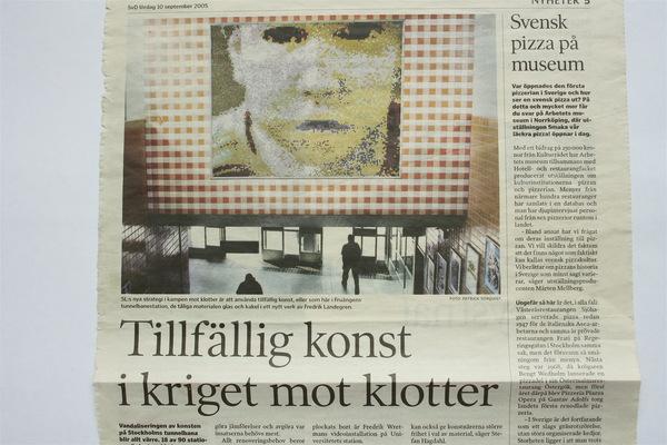 Fredrik Landergren - artist in Stockholm - DN 2005