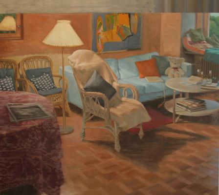 Fredrik Landergren - artist in Stockholm - Summerevening in the living room, after she had gone...