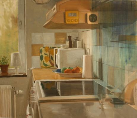Fredrik Landergren - artist in Stockholm - The kitchen after she had gone...