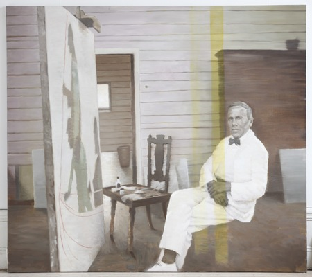 Fredrik Landergren - artist in Stockholm - Carl Wilhelmson in his studio