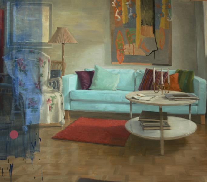 Fredrik Landergren - artist in Stockholm - Daylight in the livingroom, after she had gone...