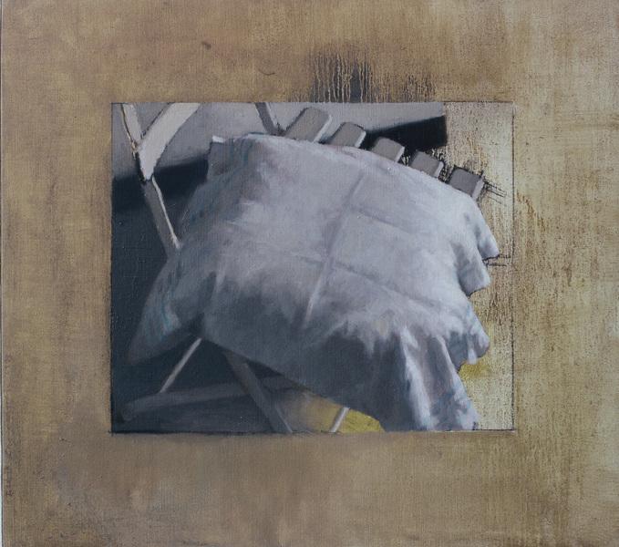 Fredrik Landergren - artist in Stockholm - Pillow on chair