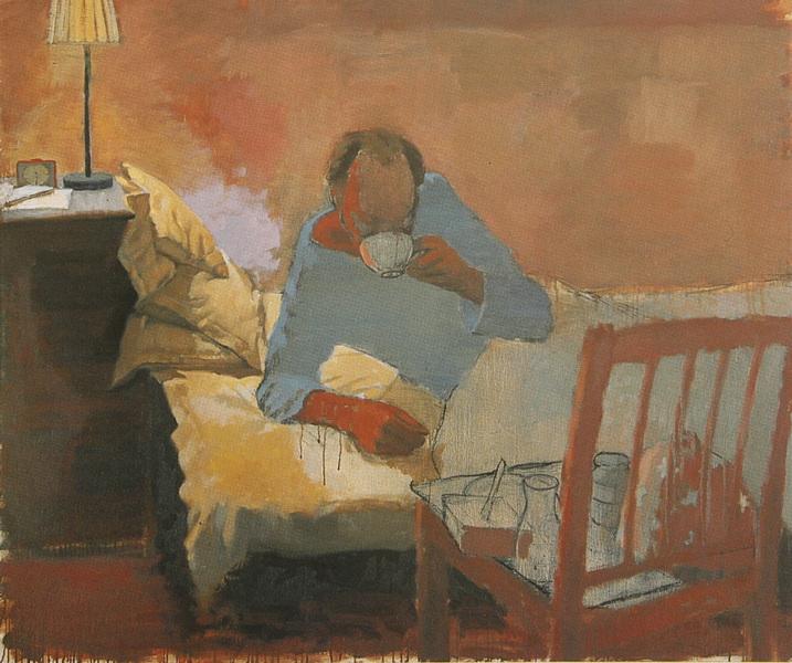 Fredrik Landergren - artist in Stockholm - Man with teacup