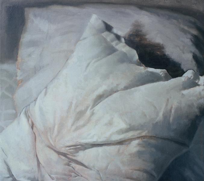 Fredrik Landergren - artist in Stockholm - Dreaming thoughts on pillow