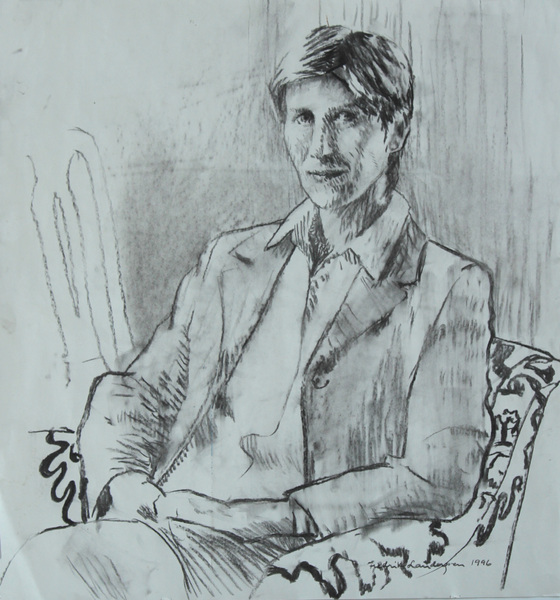 Fredrik Landergren - artist in Stockholm - Portrait of a lady 1996