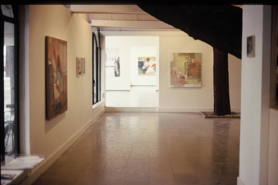 Fredrik Landergren - artist in Stockholm - interior from the exhibition realism/romantik at Galleri Doktor Glas 1996