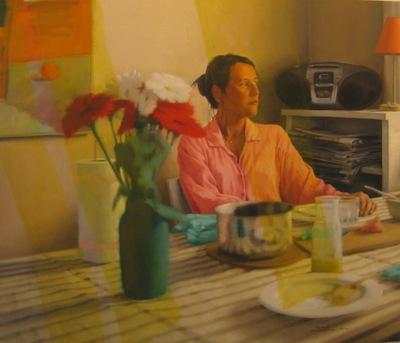 Fredrik Landergren - artist in Stockholm - Jacqueline in the kitchen