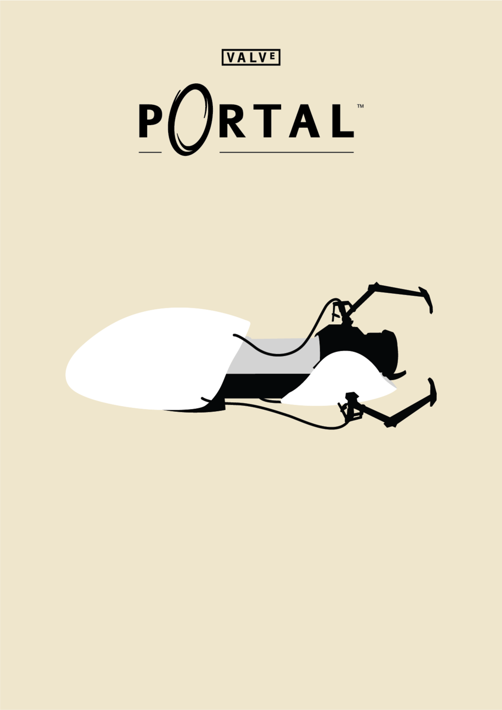 Maram Alesayi | Graphic and Motion Designer - Port Poster with Portal Gun