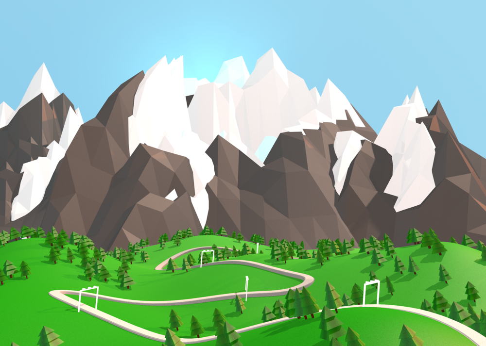 Maram Alesayi | Graphic and Motion Designer - Poly World Mountains