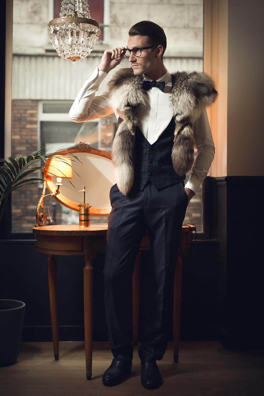 Justine Poupaud MUA - Les Dandys Jute Magazine / Photographe : Xavier / Modèle : Michael Naja / Makeup artist : Justine Poupaud / Hairstylist : Marie De Besses / Styliste : Brian Mc Neal