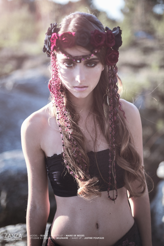 Justine Poupaud MUA - Photographe : Zanza / Modèle : Elsa Couturier / Makeup artist : Justine Poupaud / Hairstylist : Marie De Besses / Styliste : Milunaire