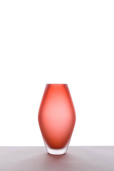 Valner Glass s.r.o. - Seashell vase - Red velvet  Code: V0817 Red velvet