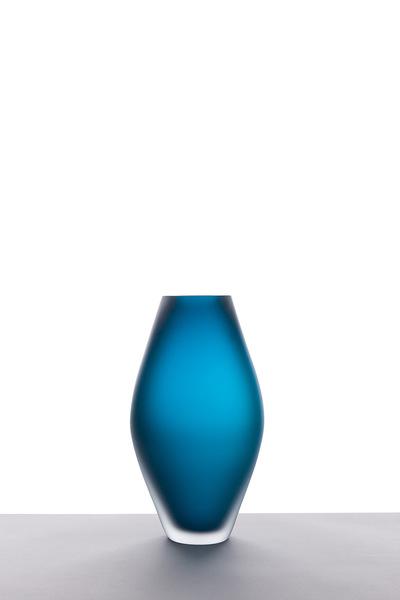 Valner Glass s.r.o. - Seashell vase - Blue velvet  Code: V0817 Blue velvet