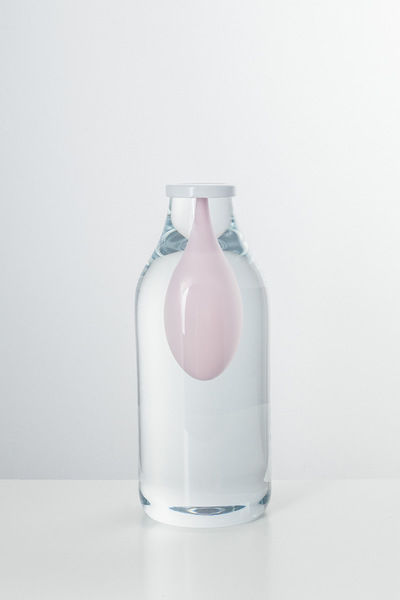 Valner Glass s.r.o. - Bottle object - Pink   Code: O1417 Pink