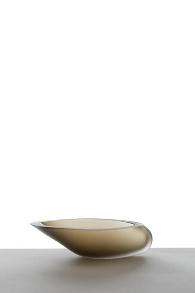Valner Glass s.r.o. - Seashell bowl - Greenvelvet  Code: M0917 Green velvet