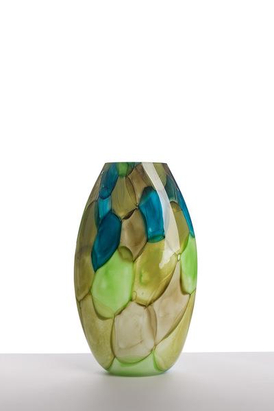 Valner Glass s.r.o. - Aquarelle vase - Ligt Green  Code: V0717 Green