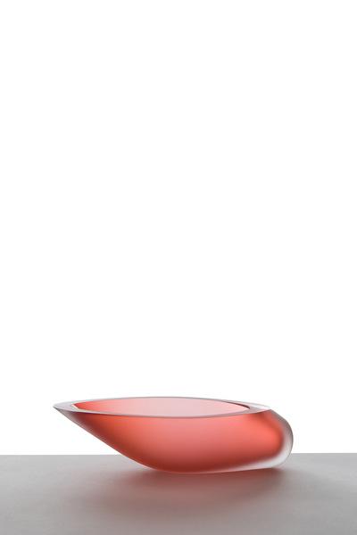 Valner Glass s.r.o. - Seashell bowl - Red velvet  Code: M0917 Red velvet