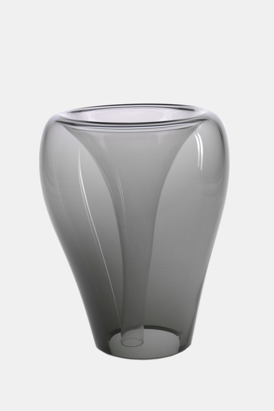 Valner Glass s.r.o. - Flowerpot _mi__ large, grey  Code: MI_LG02GRY
