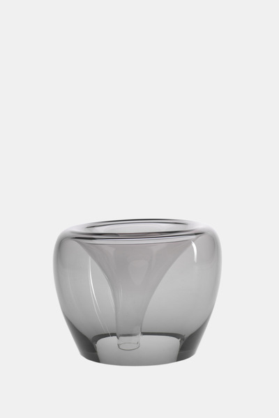 Valner Glass s.r.o. - Flowerpot _mi__  medium, grey   Code: MI_MD02GRY