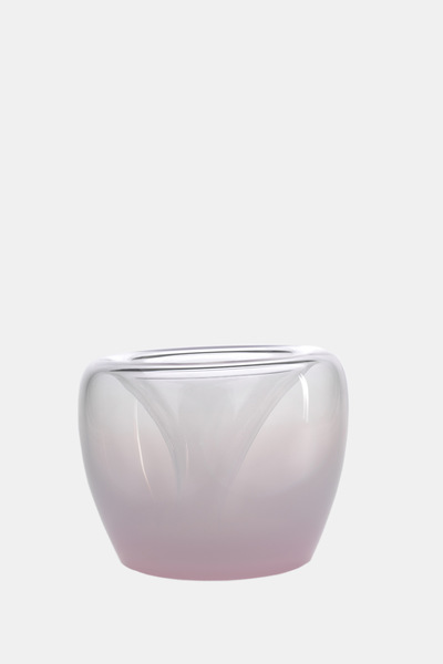 Valner Glass s.r.o. - Flowerpot _mi__  medium, pink   Code: MI_MD02PNK