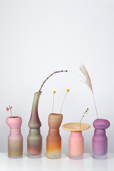 Valner Glass s.r.o. - Fungus vases  Code: V0119, 5 variants