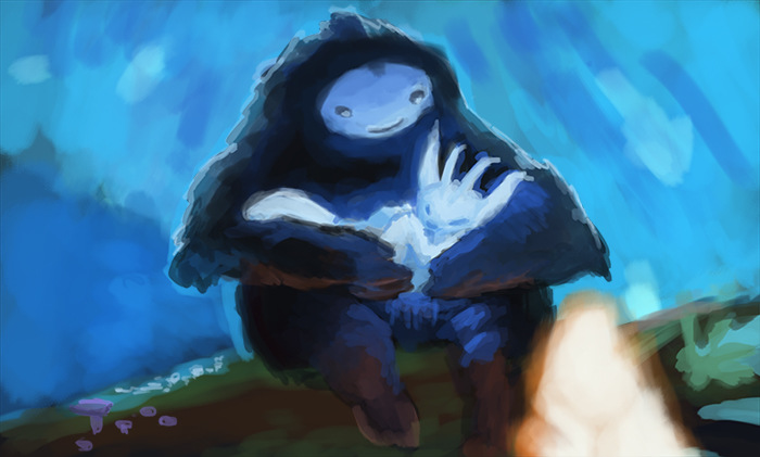 4thdimensionofcreativity - Ori and the blind forest - repaint of the original concept art - fantart