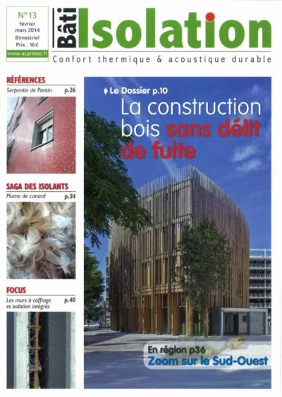 Nicolas Favet Architectes - Février/Mars 2014 - Publication dans la revue Bâti Isolation