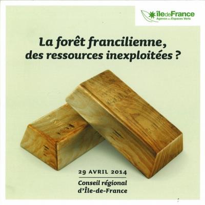 Nicolas Favet Architectes - 29/04/2014 Participation au Colloque La forêt francilienne, des ressources inexploitées ? de lAEV